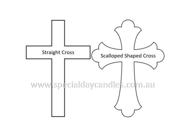 Straight & Scalloped shaped Cross