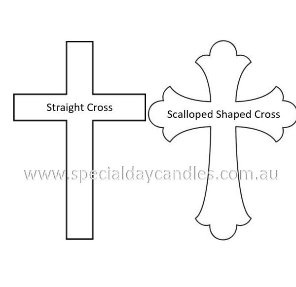 Straight & Scalloped shaped Cross