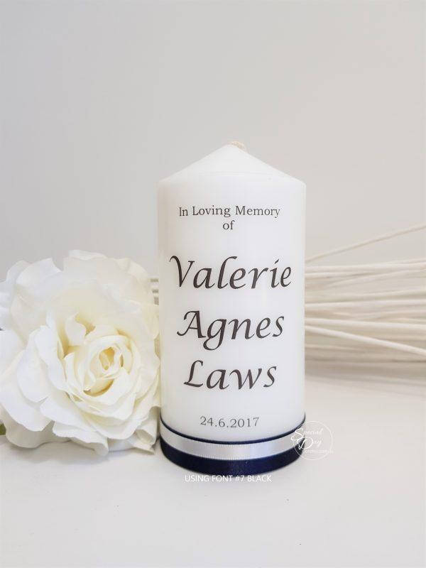 memorial-funeral-personalised candle-N3F7F6black