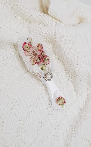 christening-baptism-hair-brush-2D-flower-hb28