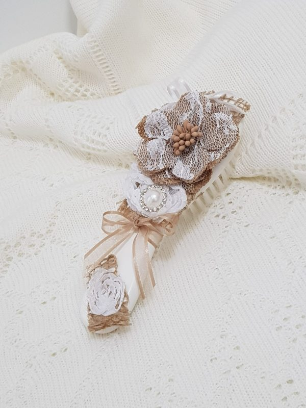christening-baptism-hair-brush-2D-flower-hessian-hb27