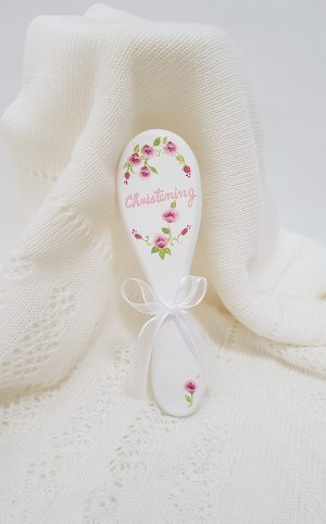 christening-baptism-hair-brush-flowers-hb16
