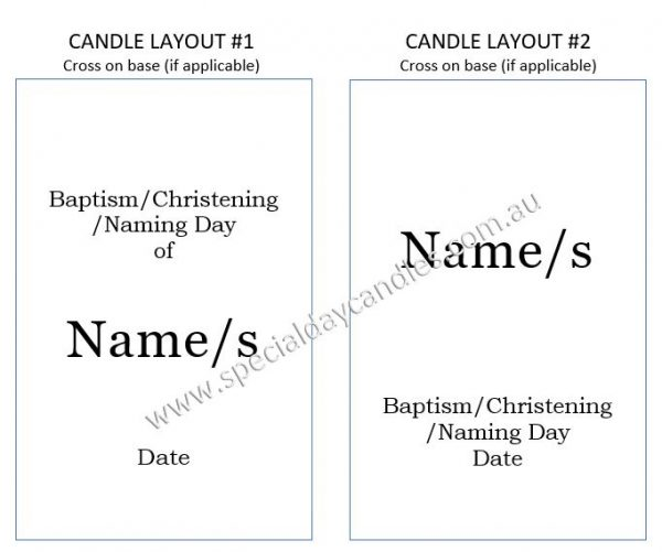 candle layout 1 & 2 (for cross on base)