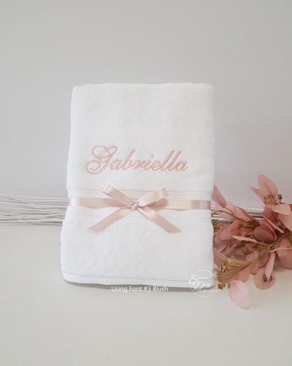 personalised-bath-towel-antique-pink-blush-pemb1xnameF3